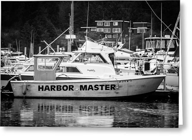 Police Cruiser Greeting Cards - Master of the Harbor Greeting Card by Melinda Ledsome