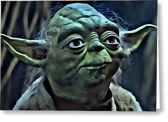 Master Yoda Greeting Cards - Master Yoda Greeting Card by Florian Rodarte