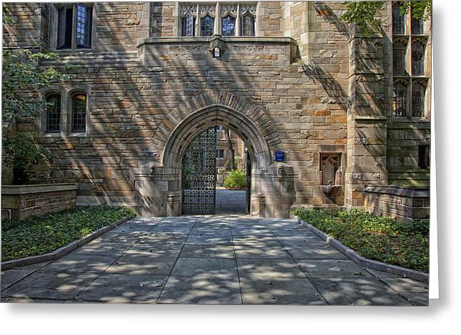 Master's House Gateway Trumbull College - Yale University  Greeting Card by Mountain Dreams
