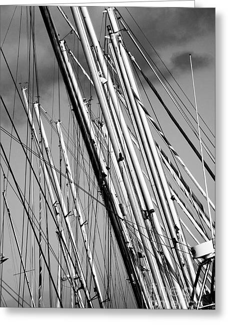 Masts Greeting Cards - Masts 3 Greeting Card by Alan Oliver