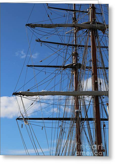 Masted Ships Greeting Cards - Masts Greeting Card by Carol Groenen