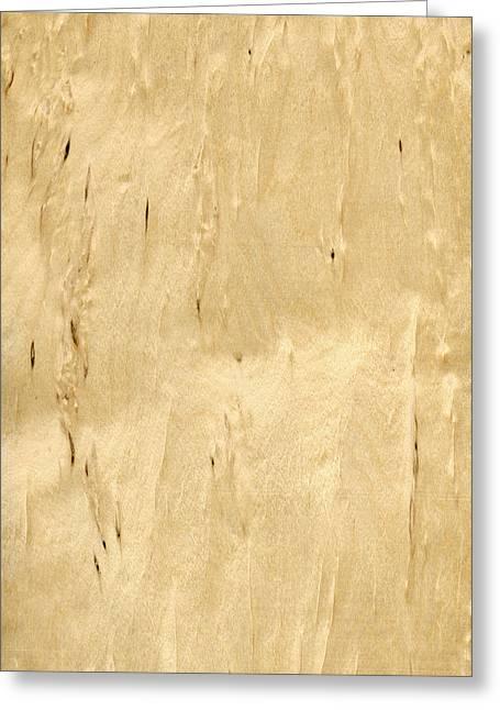 Veneer Greeting Cards - Masur Birch Veneer Greeting Card by Hakon Soreide