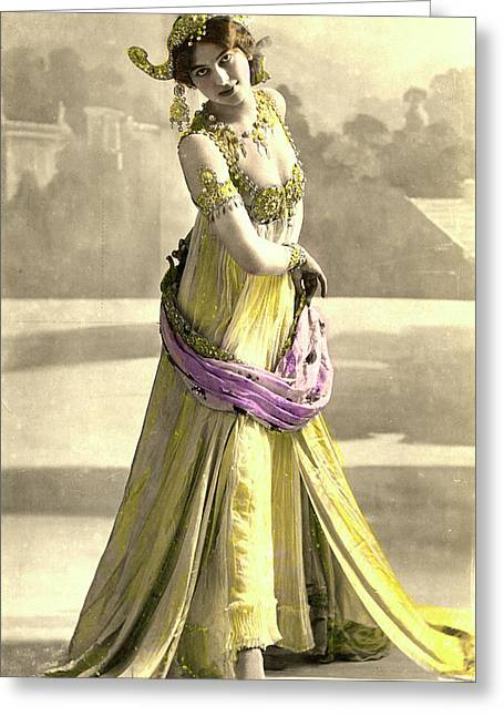 Mata Hari Greeting Card by Collection Abecasis