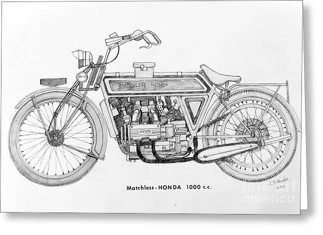Matchless - Honda 1000 C.c. Greeting Card by Stephen Brooks