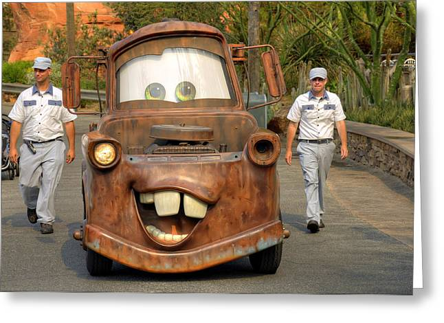 Anaheim California Greeting Cards - Mater And Friends Greeting Card by Ricky Barnard