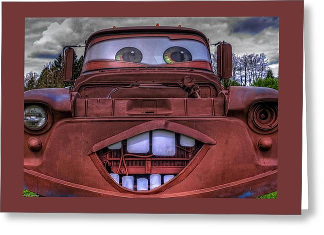 Old Car Greeting Cards - Mater Look Alike Greeting Card by Thom Zehrfeld