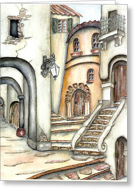 Matera Greeting Card by Pamela Allegretto