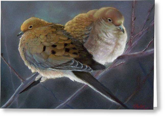 Dove Pastels Greeting Cards - Mates... For Life Greeting Card by Marcus Moller