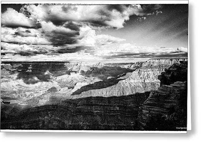 Greeting Cards - Clouds View From Mather Point  Greeting Card by Lisa  Spencer