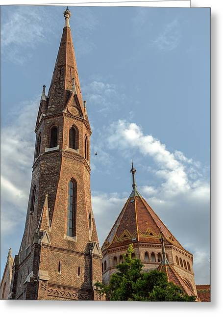 Neo Pyrography Greeting Cards - Mathias Church in Budapest Greeting Card by Oliver Sved