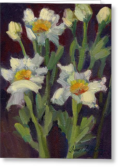 Barbara Paintings Greeting Cards - Matilija Poppies Greeting Card by Diane McClary