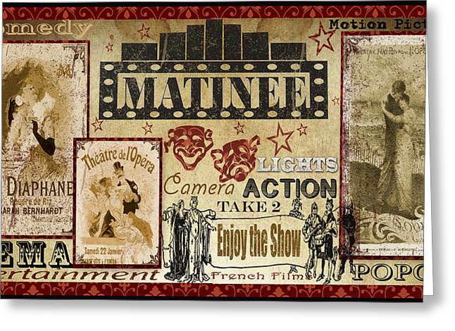 Home Theater Greeting Cards - Matinee-A Greeting Card by Jean Plout
