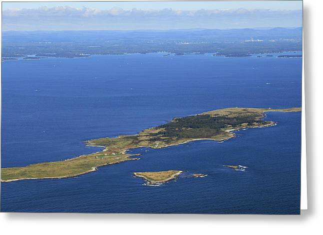 Maine Beach Greeting Cards - Matinic Island, Maine Greeting Card by Dave Cleaveland