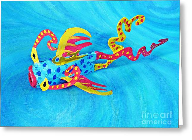 Fish Sculptures Greeting Cards - Matisse the Fish Greeting Card by Sarah Loft