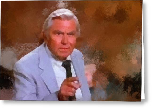 Best Sellers -  - Andy Griffith Show Greeting Cards - Matlock Greeting Card by Paulette B Wright