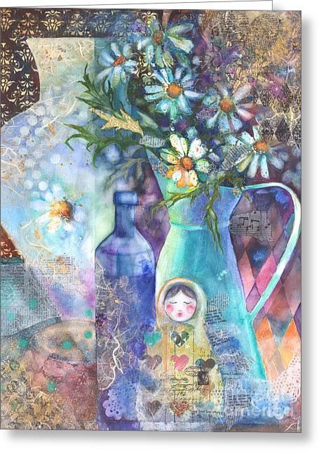 Matrioshka Greeting Card by Kate Bedell