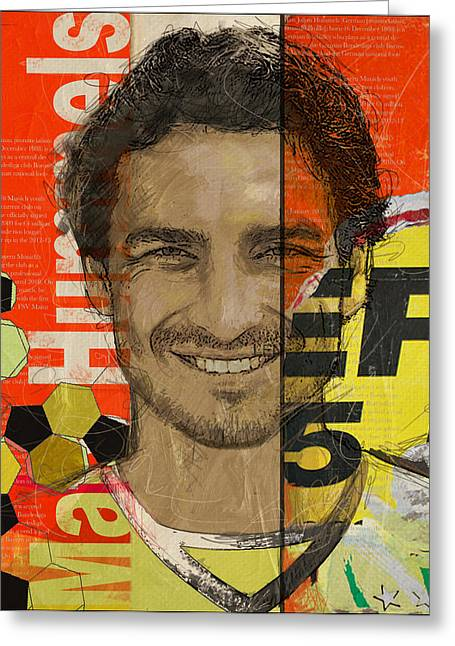 Mat Greeting Cards - Mats Hummels Greeting Card by Corporate Art Task Force