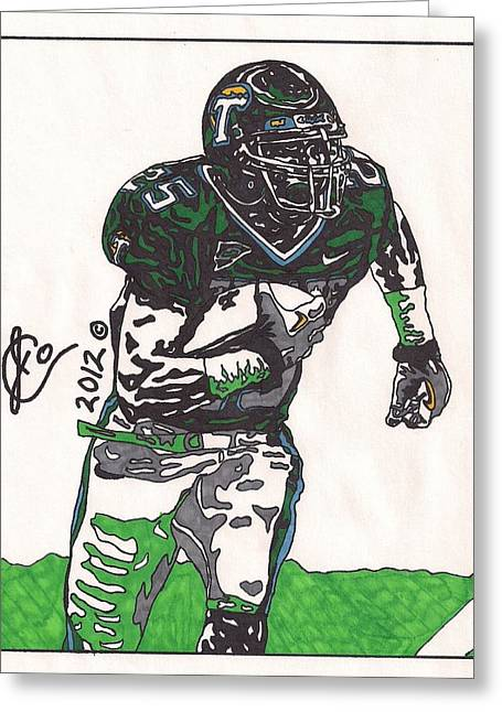 Tulane Greeting Cards - Matt Forte Greeting Card by Jeremiah Colley