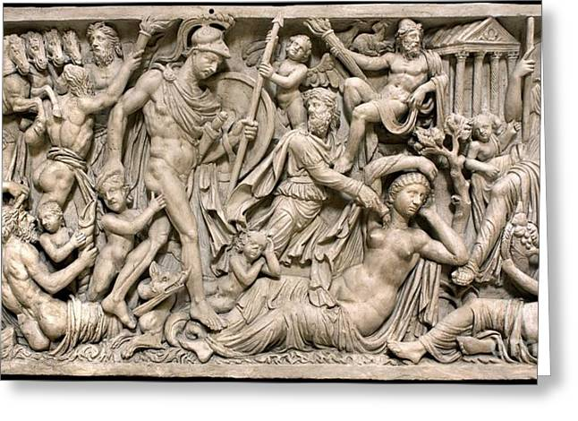 Vestal Greeting Cards - Mattei Sarcophagus Greeting Card by Sheila Terry