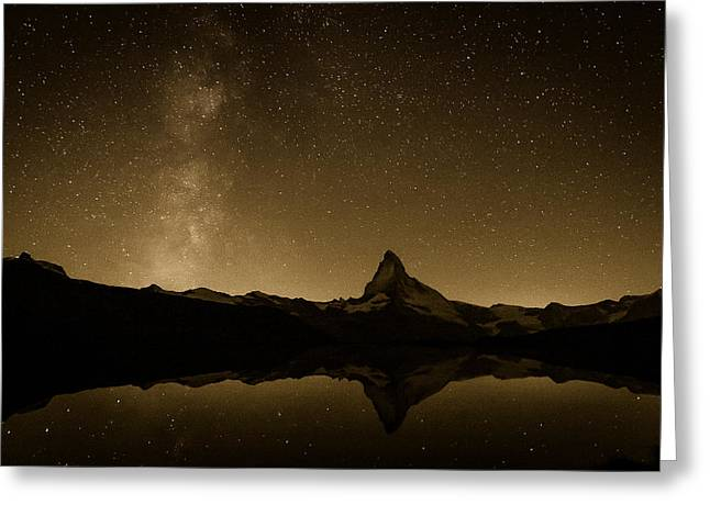 Dikovsky Greeting Cards - Matterhorn and Milky Way Greeting Card by Konstantin Dikovsky