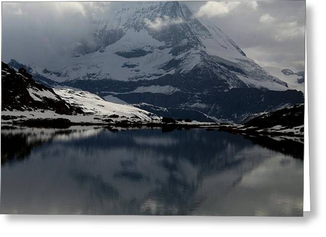 Matterhorn reflection from Riffelsee Lake Greeting Card by Jetson Nguyen