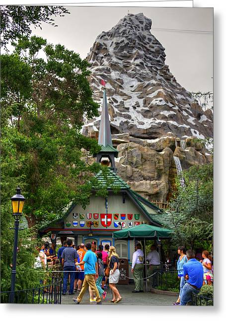 Anaheim California Greeting Cards - Matterhorn Greeting Card by Ricky Barnard