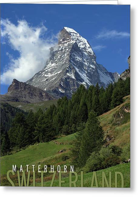 Best Sellers -  - Swiss Photographs Greeting Cards - Matterhorn Greeting Card by Ron Sumners