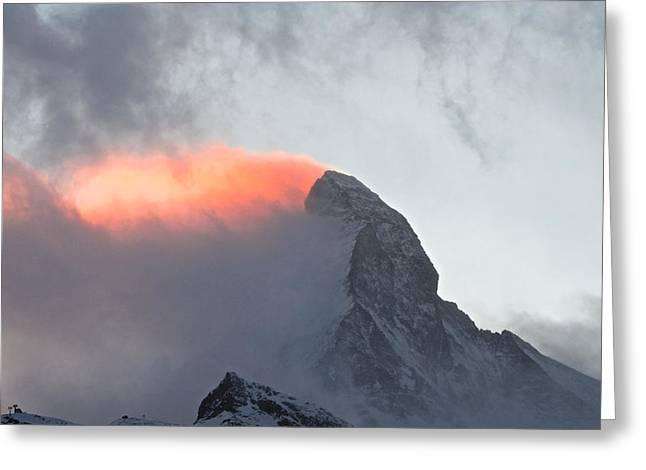 Adam West Greeting Cards - Matterhorn Sunset Greeting Card by Adam West