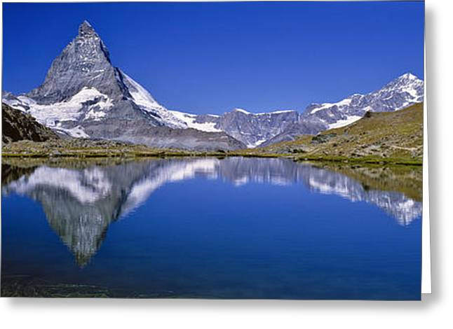 Valais Canton Greeting Cards - Matterhorn, Valais, Switzerland © Luis Greeting Card by Tips Images