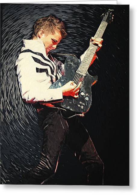 Coldplay Greeting Cards - Matthew Bellamy Greeting Card by Taylan Soyturk