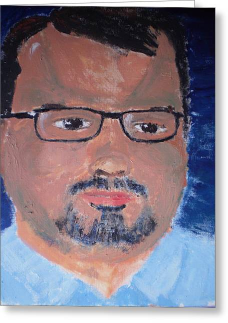 Matthew Good Greeting Card by Rob Spencer