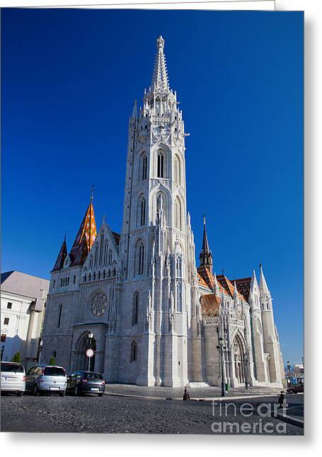 Neo-gothic-style Greeting Cards - Matthias Church in Budapest Greeting Card by Michal Bednarek