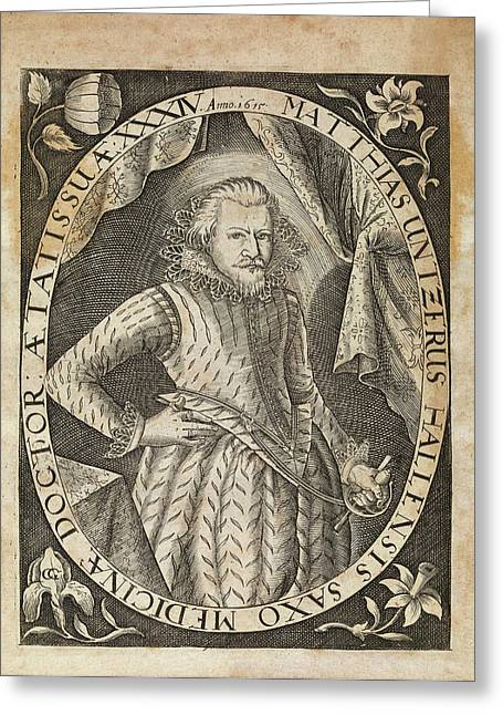 Matthias Untzer Greeting Card by Middle Temple Library