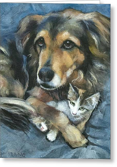 Shepherds Greeting Cards - Maty and Lennox Greeting Card by Mary Medrano