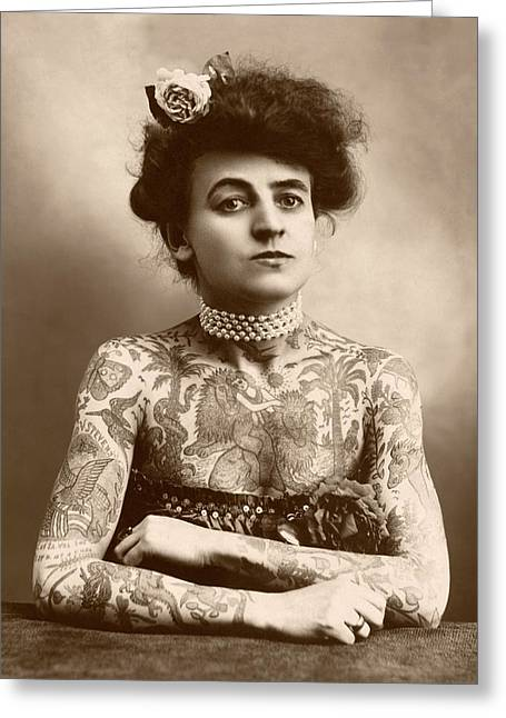 Maud Wagner Greeting Card by Library Of Congress