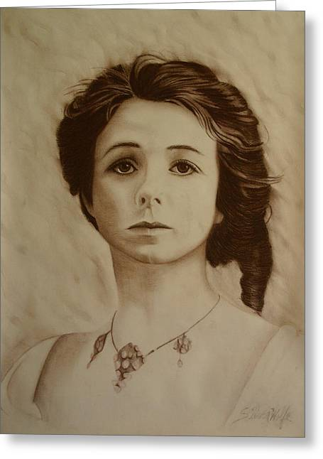 Adam Pastels Greeting Cards - Maude Adams 1 Greeting Card by Laurie Penrod