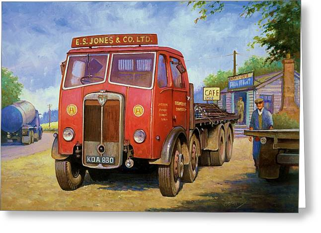 Original For Sale Greeting Cards - Maudslay Meritor Greeting Card by Mike  Jeffries