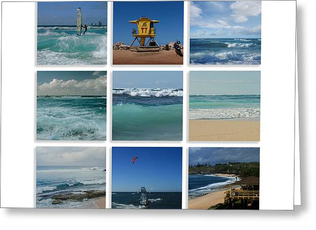 Maui North Shore Hawaii Greeting Card by Sharon Mau