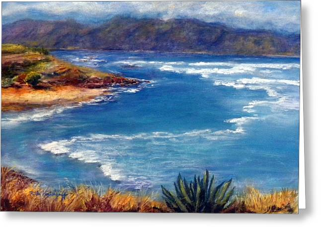 ; Maui Pastels Greeting Cards - Maui North Shore Greeting Card by Hilda Vandergriff