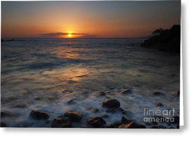 Cobblestones Greeting Cards - Maui on the Rocks Greeting Card by Mike  Dawson