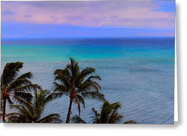 ; Maui Greeting Cards - Maui Panorama Greeting Card by Camille Lopez