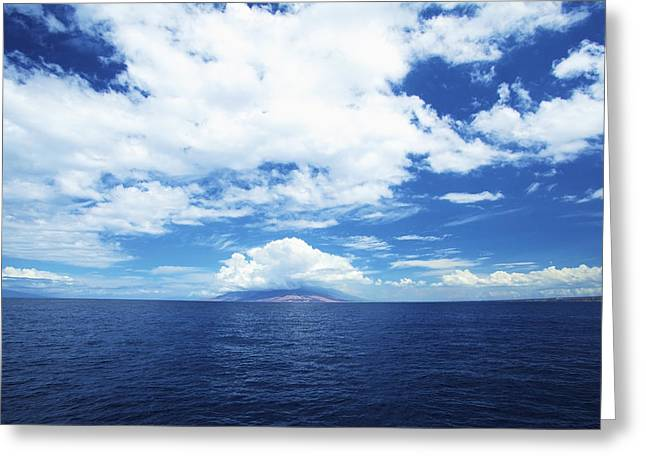 Far Above Greeting Cards - Maui Sea and Sky Greeting Card by Kicka Witte