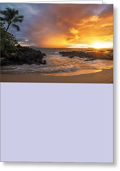 Maui Sunset Greeting Card by Hawaii  Fine Art Photography