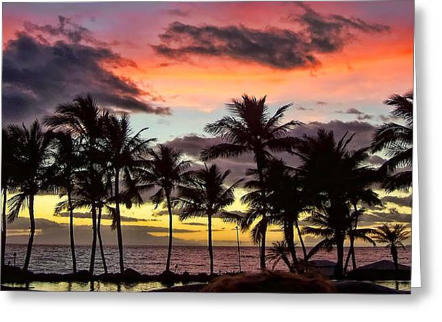 ; Maui Greeting Cards - Maui Sunset Greeting Card by Jack Schultz