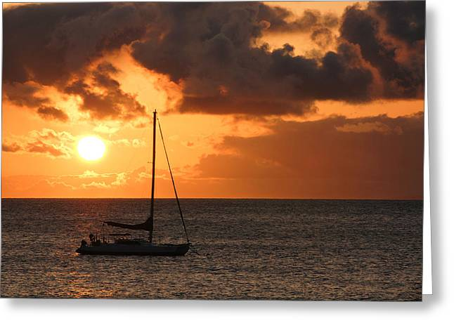 Coastal Greeting Cards - Maui Sunset Greeting Card by Shane Kelly