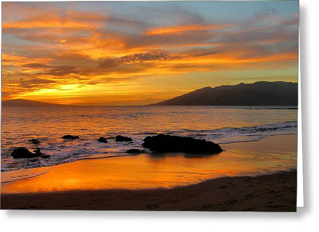 ; Maui Greeting Cards - Maui Sunset Greeting Card by Stephen  Vecchiotti