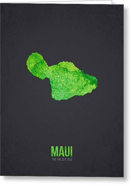 Hawaii Mixed Media Greeting Cards - Maui the valley isle Greeting Card by Aged Pixel