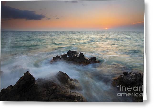 Maui Tidal Swirl Greeting Card by Mike  Dawson