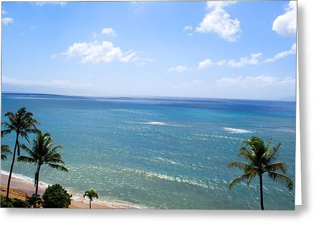 Hawii Greeting Cards - Maui View Greeting Card by Camille Lopez