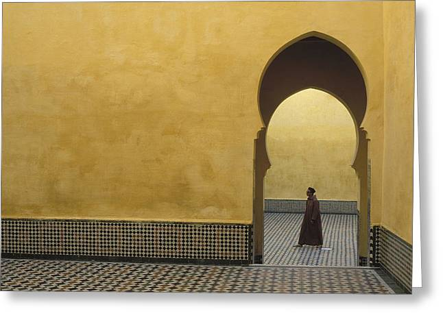 Entrance Door Greeting Cards - Mauoleum Of Moulay Ismail Greeting Card by Peter Rayner